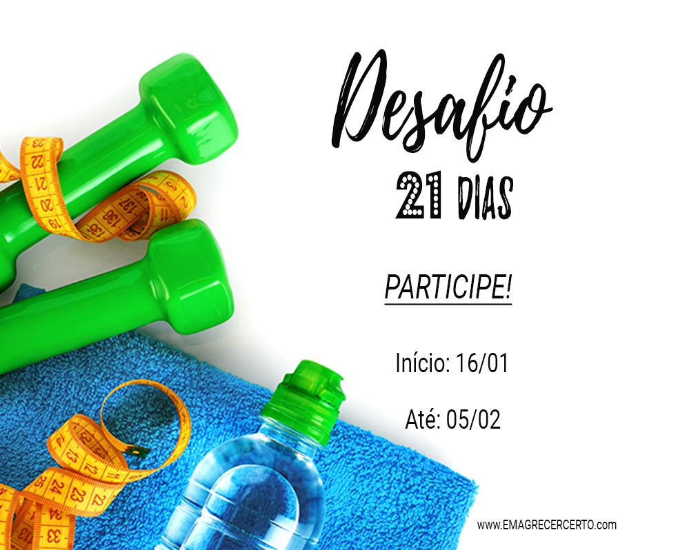 novo desafio 21 dias