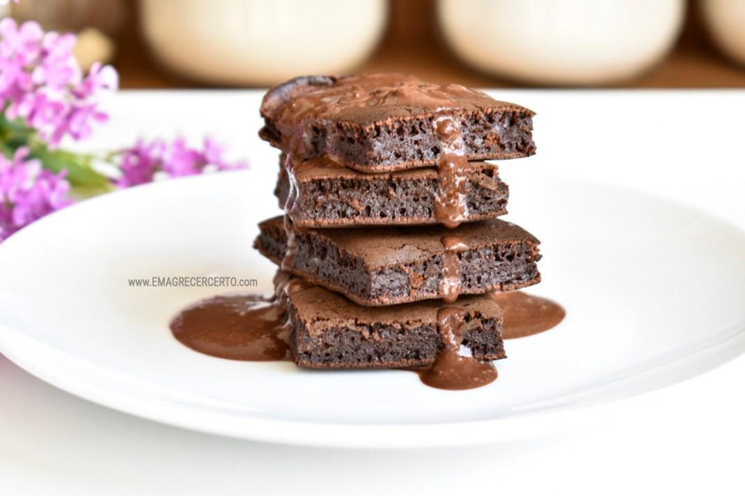 brownie fit de frigideira blog Emagrecer Certo