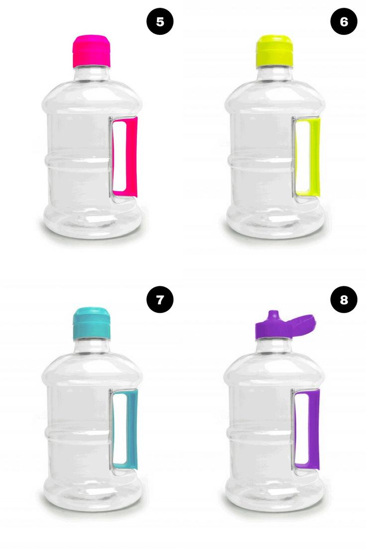 Modelos neon de garrafa mini galão de água