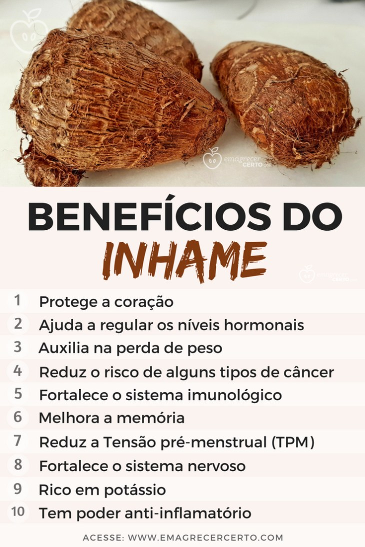 Benefícios do Inhame | Blog EmagrecerCerto.com