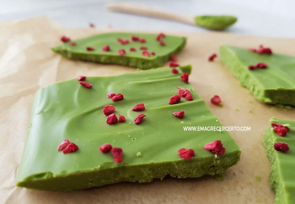 Chocolate com matcha blog Emagrecer Certo