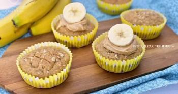 Muffim de banana com especiarias | Blog Emagrecer Certo #receitasaudavel #muffindebanana