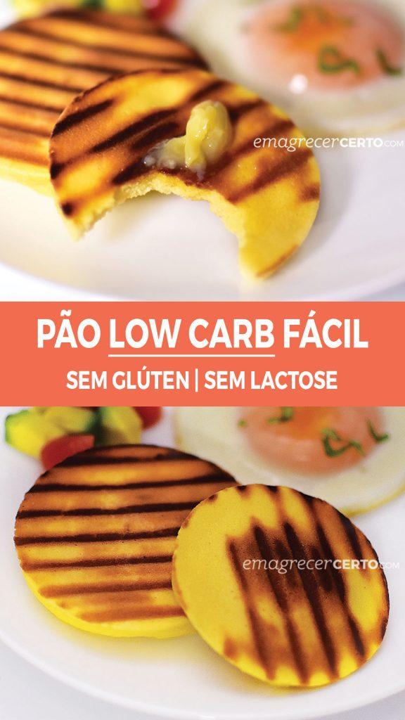 Pão Low Carb Super Fácil do Blog Emagrecer Certo #lowcarb #receitasaudavel #reeducacaoalimentar #nutricao #emagrecercerto