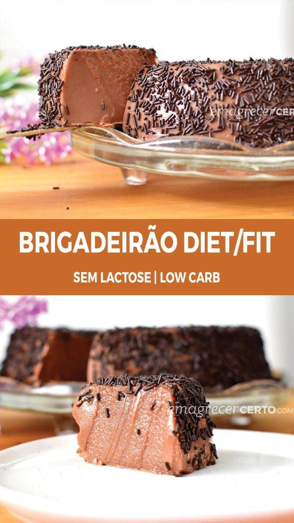 Brigadeirão Diet / Fit / Low Carb | Blog EmagrecerCerto.com #brigadeirao #reeducacaoalimentar #lowcarb