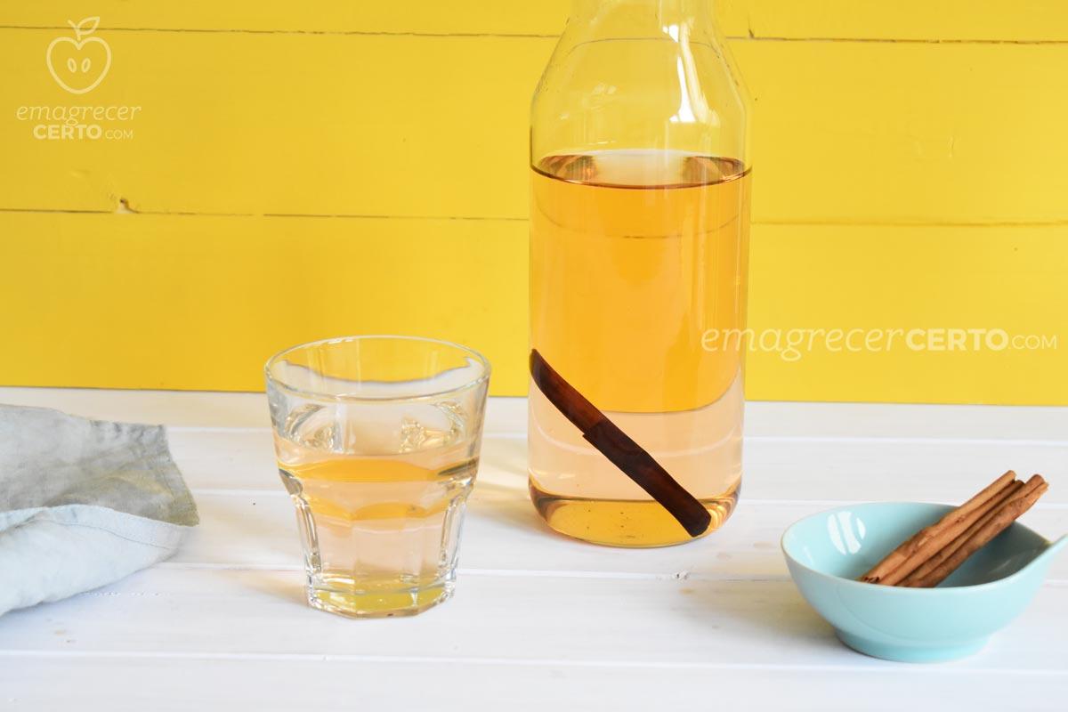 Água de canela termogênica