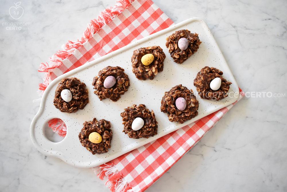 ninhos de chocolate de páscoa