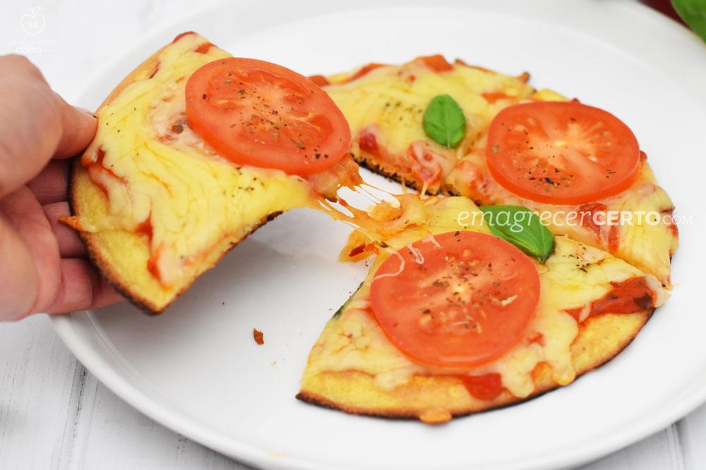 Pizza low carb de frigideira | blog Emagrecer Certo