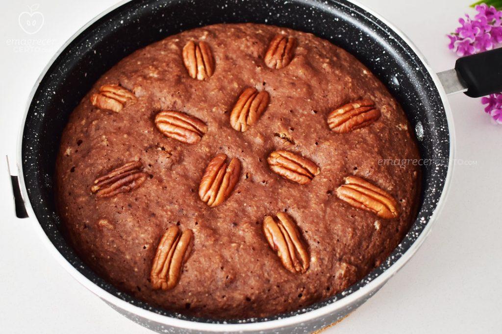 Bolo de chocolate na frigideira - Blog Emagrecer Certo
