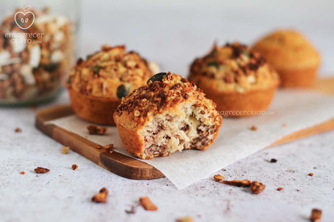 Muffin de banana com coco