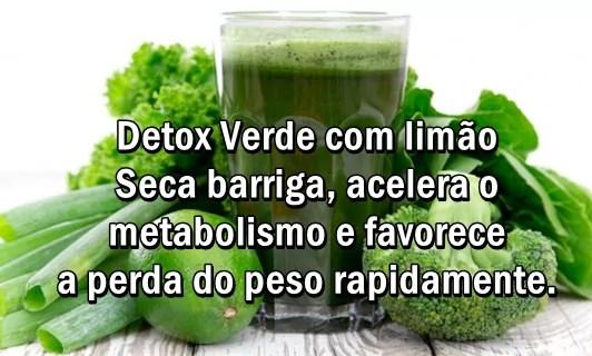 Detox Verde com Limao para secar barriga