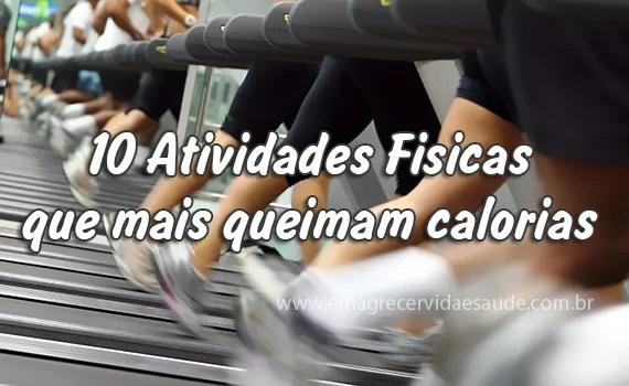 10 Atividades Fisicas que mais queimam calorias
