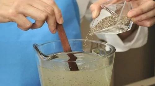 agua de limao com chia para emagrecer
