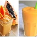 Estômago alto? Aprenda a fazer uma bebida a base de papaia que elimina o inchaço