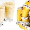 Banana, linhaça e amêndoas