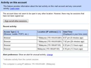 gmail track-account-activity