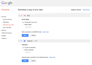 gmail download account