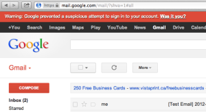 gmail inbox home page