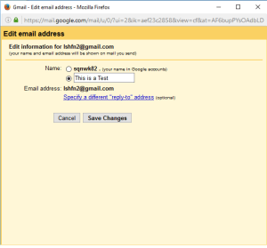 Change Display Name in Gmail