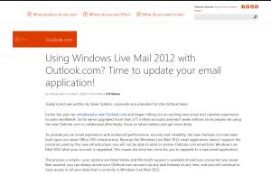 Outlook Windows Live