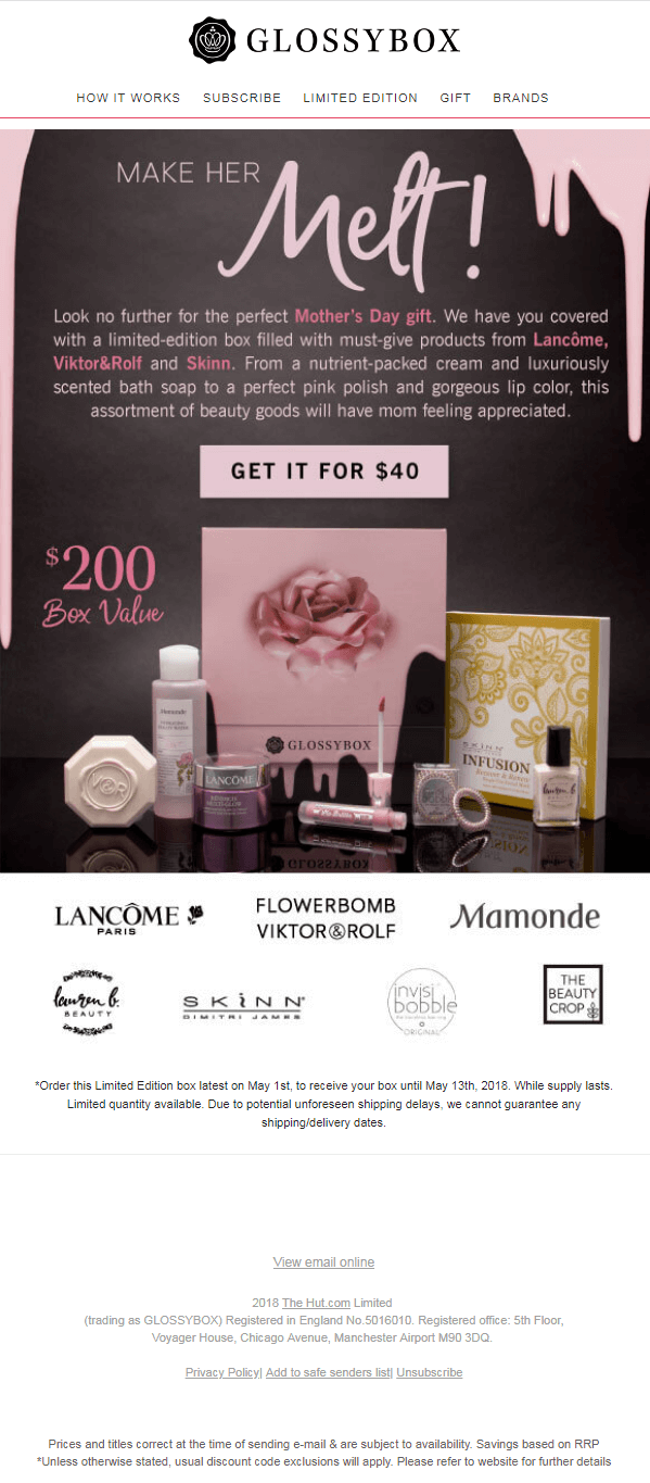 Glossybox_Mother's Day Email