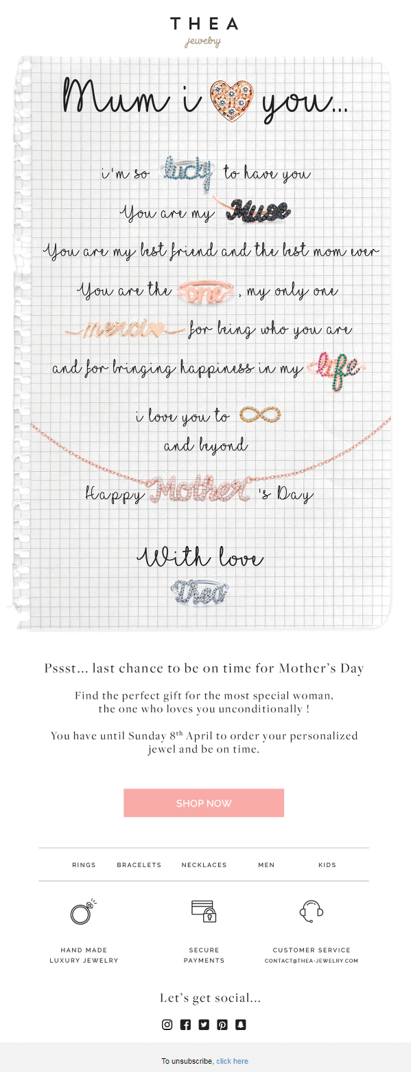 Thea Jewelry_Mother's Day Email