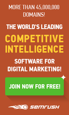SEMrush Competitive Data for Digital Marketing Professionals