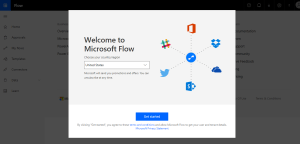 Microsoft Flow sign up