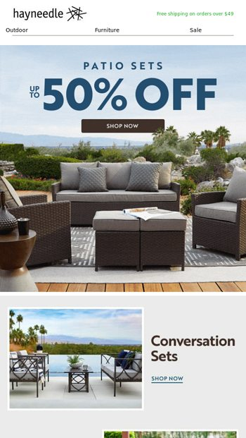 up to 50 off patio furniture