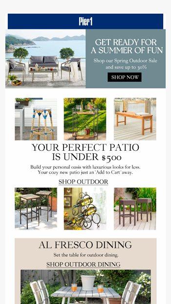 build a patio setup under 500 pier