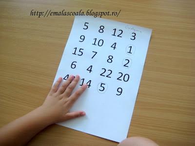 jocuri didactice cu numere