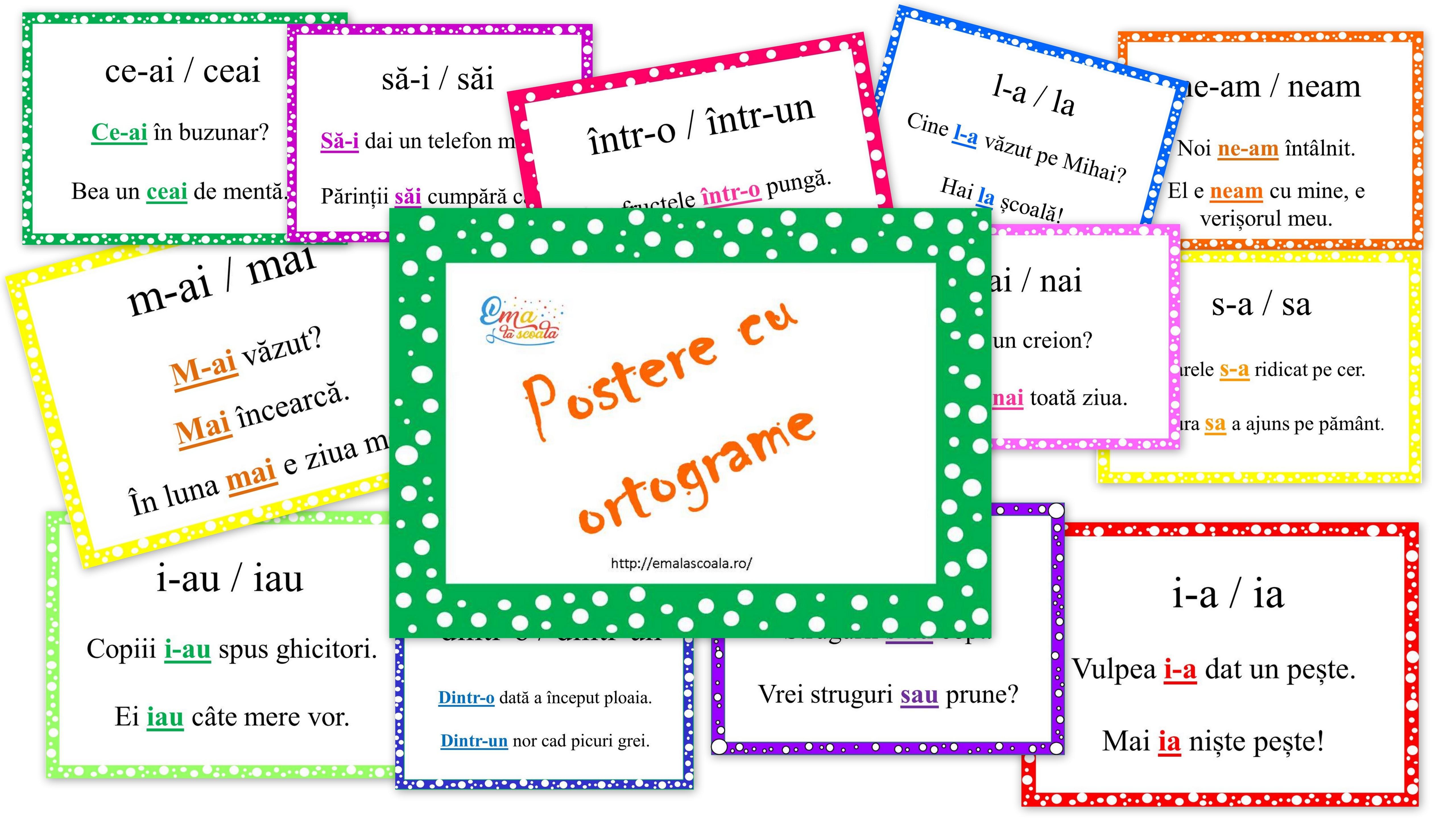 postere cu ortograme