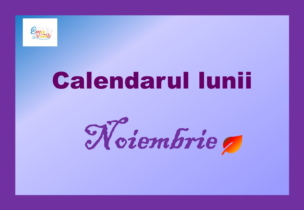calendarul lunii noiembrie