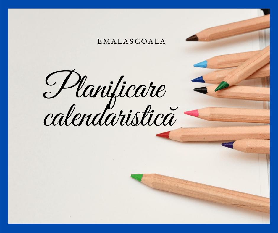 planificare calendaristica
