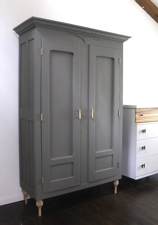 Gray wardrobe by Em & Wit Design