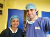 Με την Τυνήσια χειρουργό Fathia Harrabi (Hôpital Beaujon, Paris 2015).