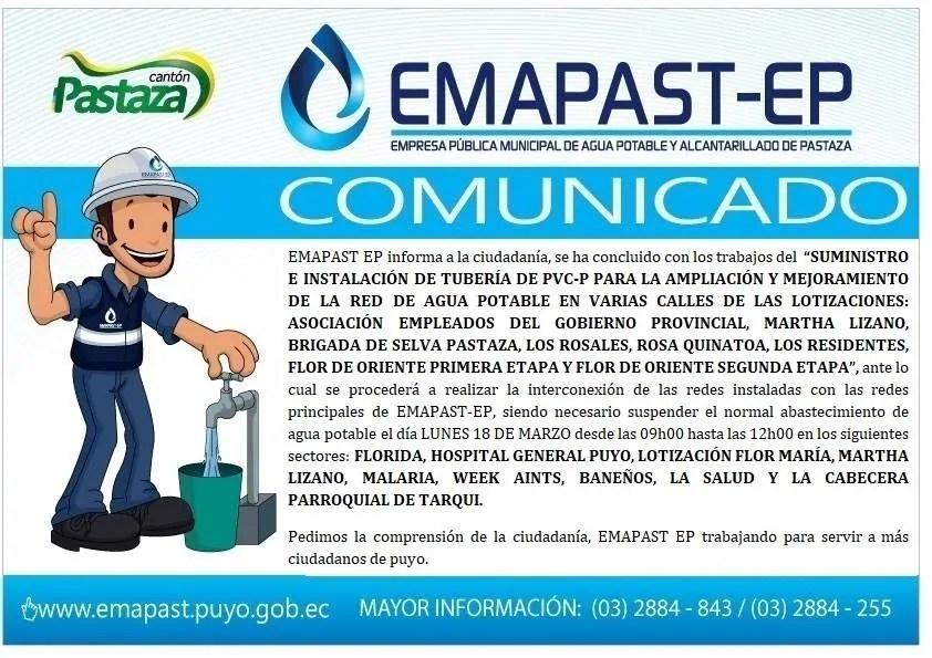 EMAPAST EP Trabajando Para Servir A Más Ciudadanos De Puyo