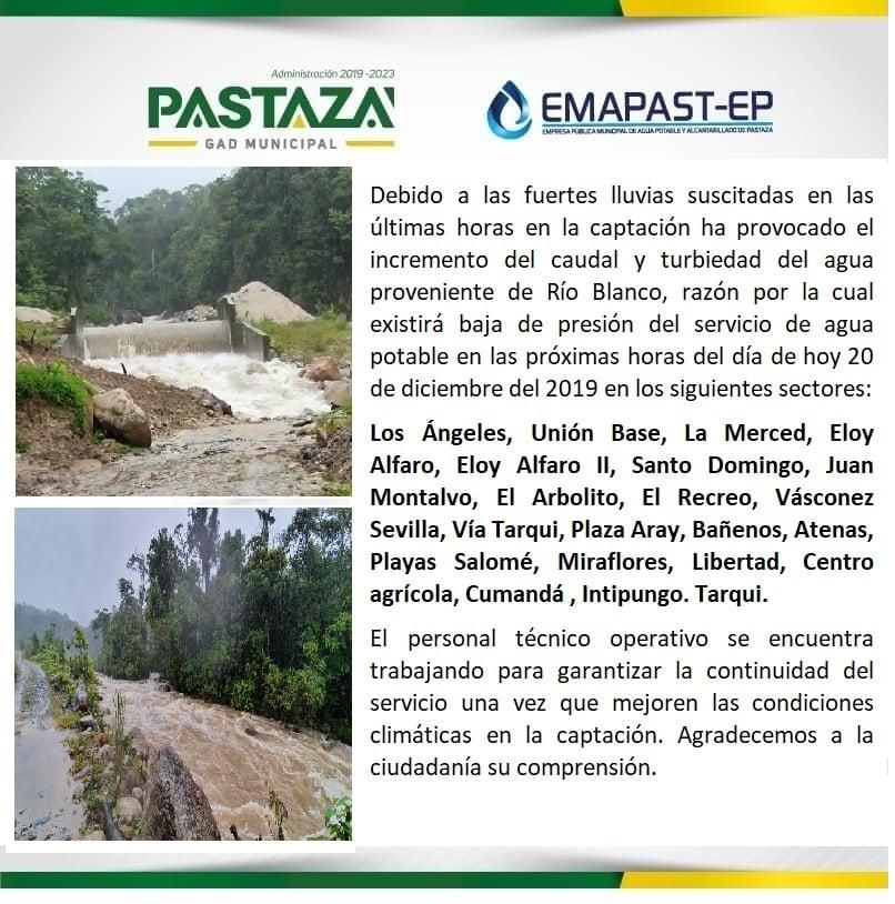 #COMUNICADO Debido A Las Fuertes Lluvias Suscitadas En Las últimas