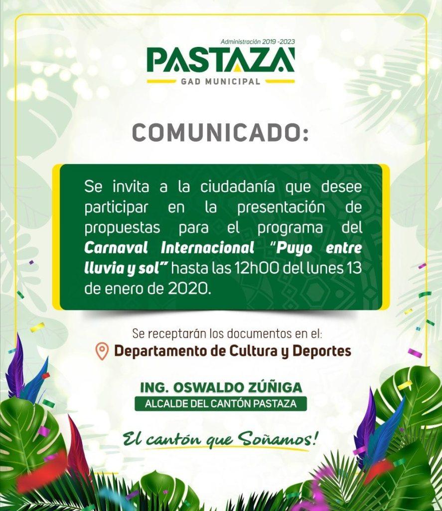 |#Comunicado|