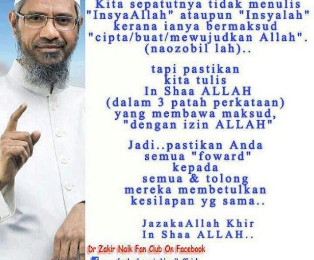 In Shaa Allah / InsyaAllah