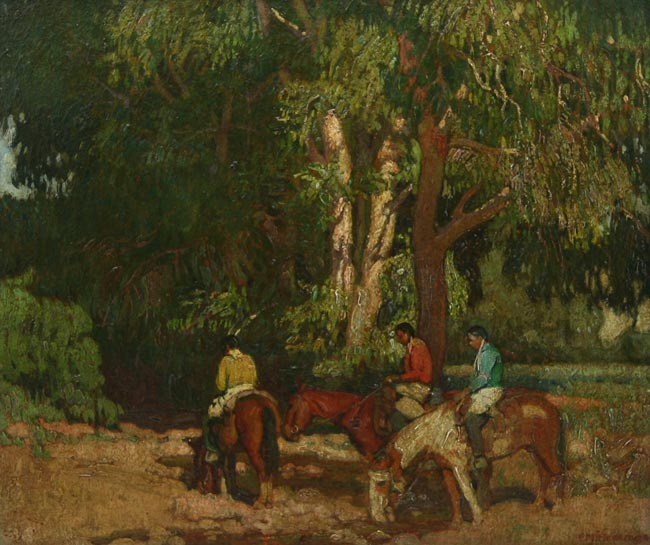 "E. Martin Hennings | ""Watering Their Horses"""