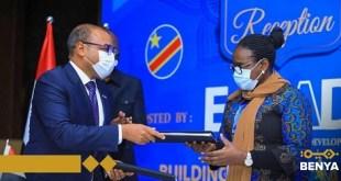 """اتفاقية بين مجموعة بنية و شركة البريد والاتصالات """"SCPT"""" تساهم في الربط بين جميع المدن الكونغولية"""