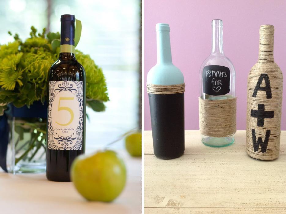 Wine Bottle Crafts Wedding