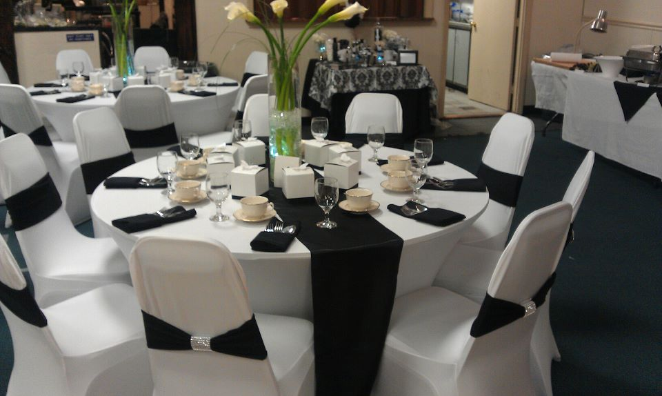 Black White And Silver Wedding Decor
