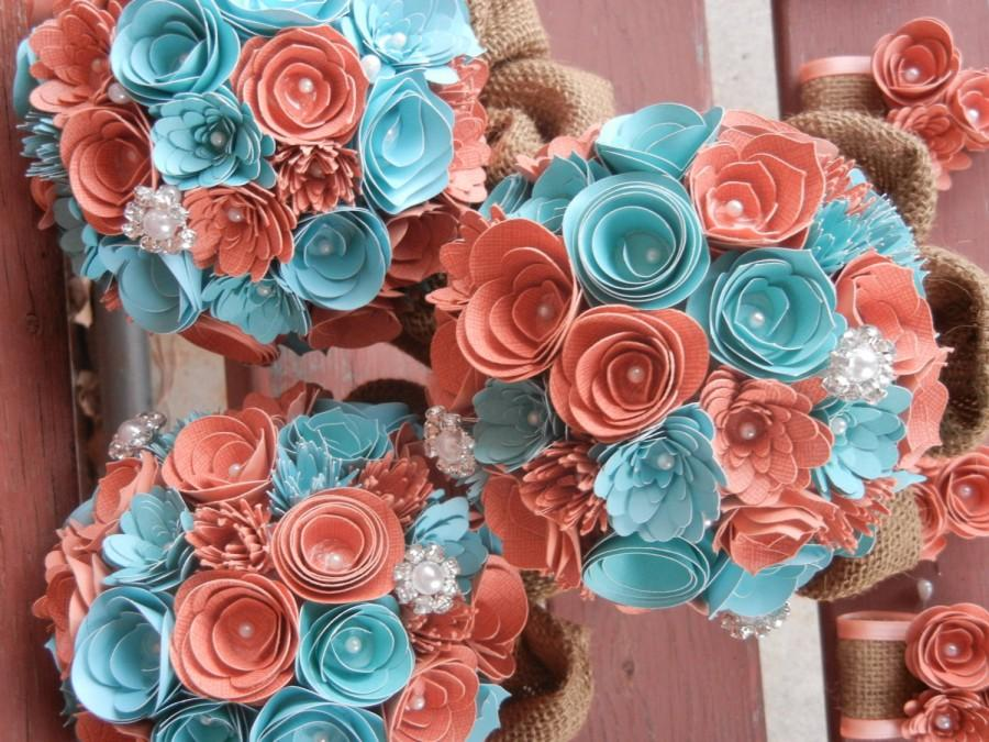 Teal And Coral Wedding Colors