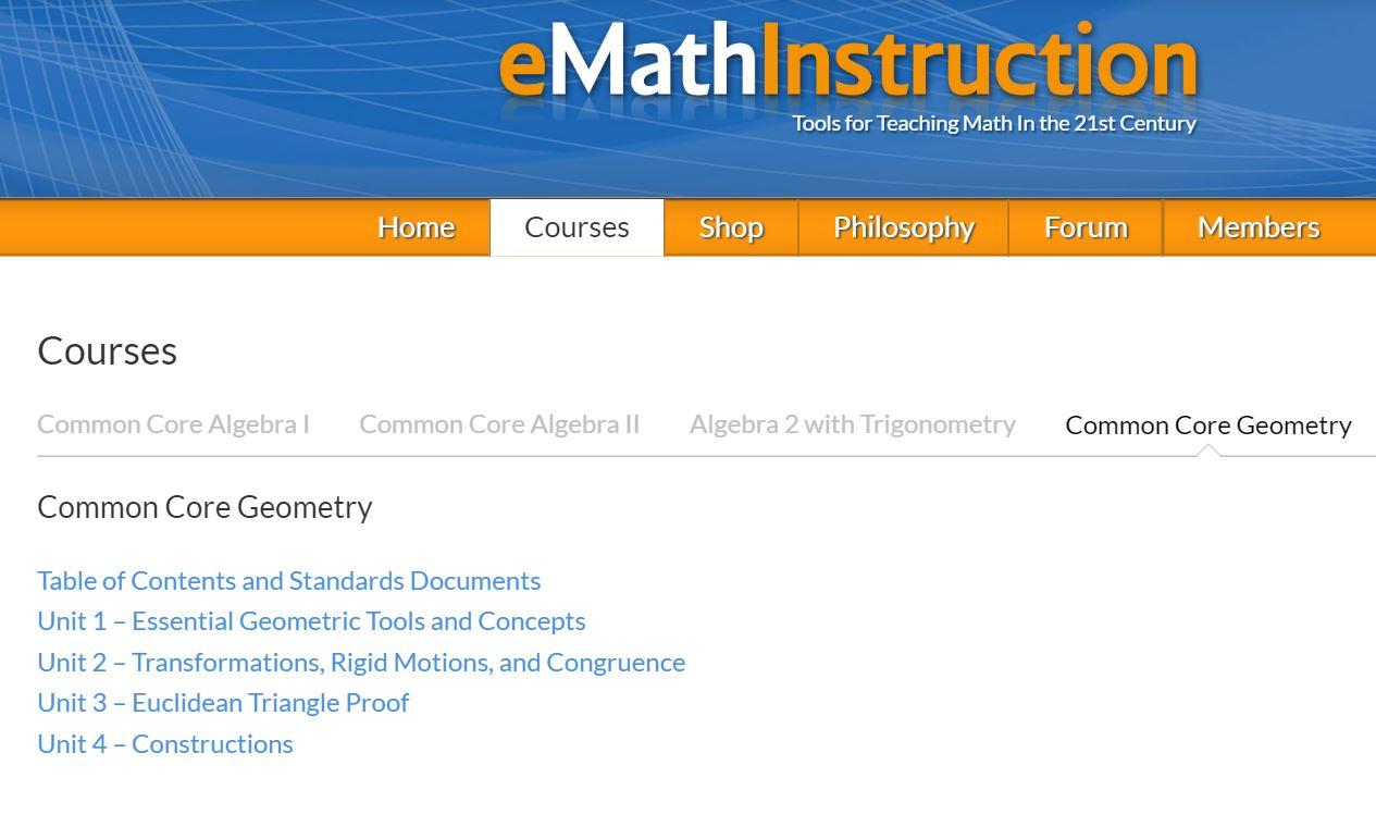 Geometry Emathinstruction