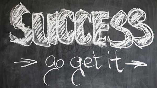 Success Go get it written on a chalkboard