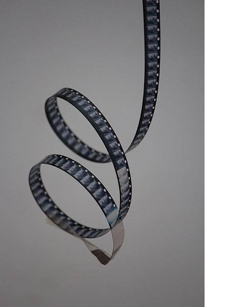 Curlicue of film