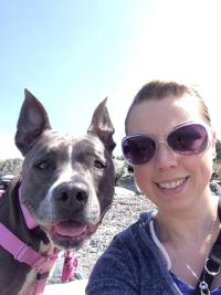 Amber Todd Bellingham dog trainer lucy pitbull