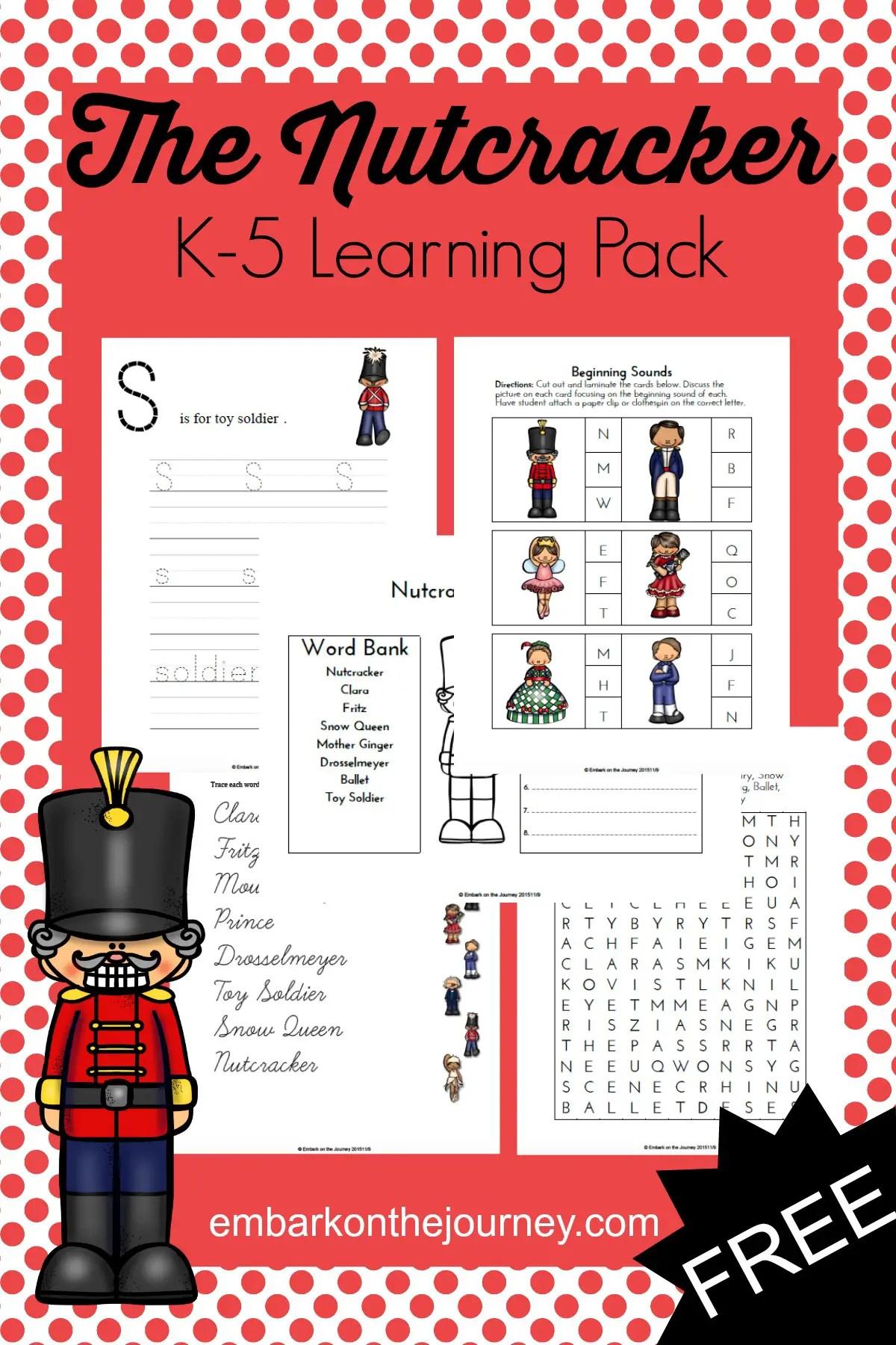 The Nutcracker Printable Learning Pack For K 5