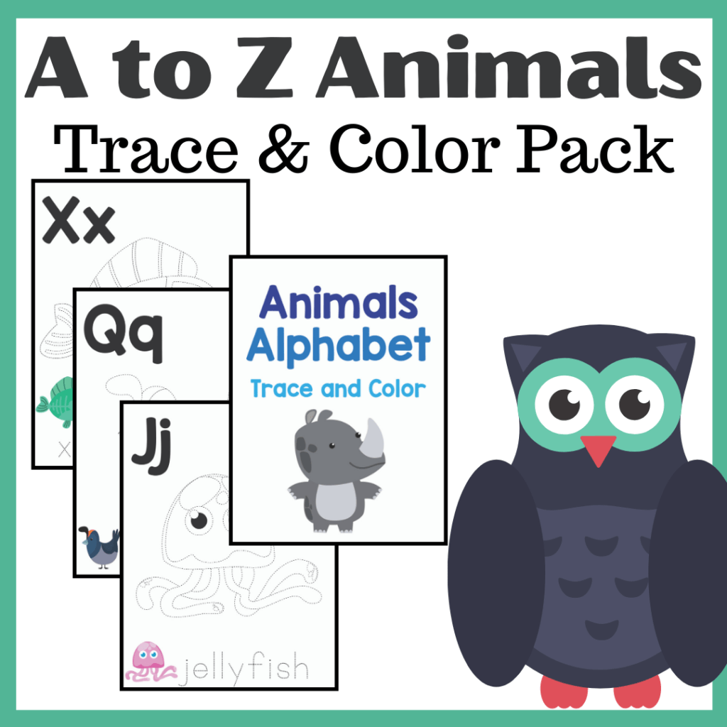 Free Printable A To Z Animals Trace And Color Pages